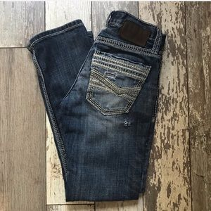 BKE Aiden straight distressed jeans Sz 26 short